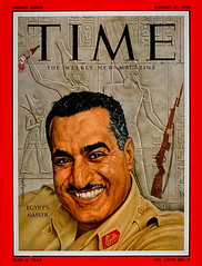 President Nasser on the cover of the time for second time (Kodak Agfa) Tags: people history media egypt cover magazines timemagazine egyptians coverboy