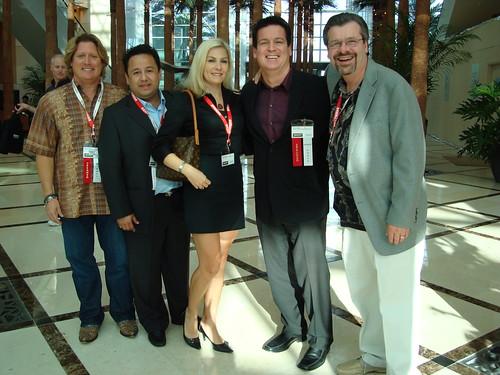 Waltsan con los hermanos Castello y Rick Schwartz en Miami 2007