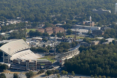 Campus from the southwest (jmjordan) Tags: arial clemsonuniversity nikond200