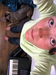 293: Dog Legs Keyboard (Turtblu) Tags: me self keyboard laika lazy acd day293 365days