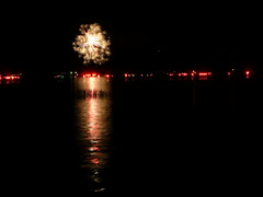 Fireworks at the lake for Labor Day