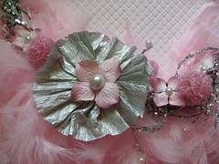 feathered wreath upclose (Vintage Delights) Tags: pink feathers wreath twigs