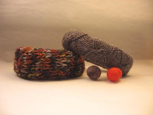 Knit bangles