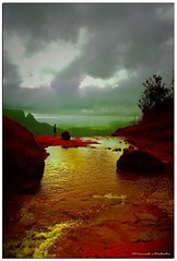 dark clouds golden water (prasad_mahale1) Tags: india matheran supershot prasadmahale nikonstunninggallery platinumphoto wonderfulworldmix
