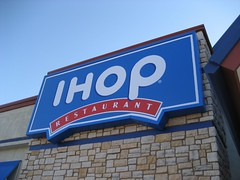 We went to the new IHOP in town. (11/03/07)