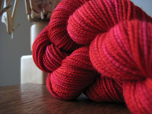 "Claudia Hand Painted Yarn ""Lipstick"""