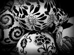 Black and white again (slcook52 (Sylvia)) Tags: blackandwhite white black ceramic balls decor creativephoto closeathand photofaceoffwinner cmwdblackandwhite pfogold copyrightedallrightsreserved