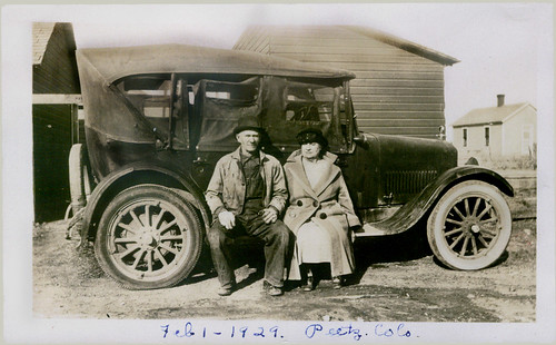 Mamma and Daddy and car, Feb. 01, 1929