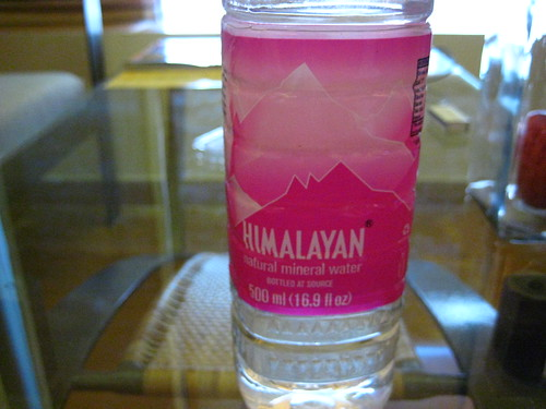 I drank a lot of Himalayan water while I was there