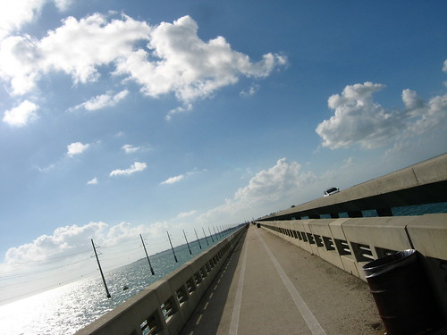 Another long bridge in the Keys, Florida, USA