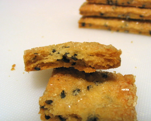 Flaky Black Sesame Cookies