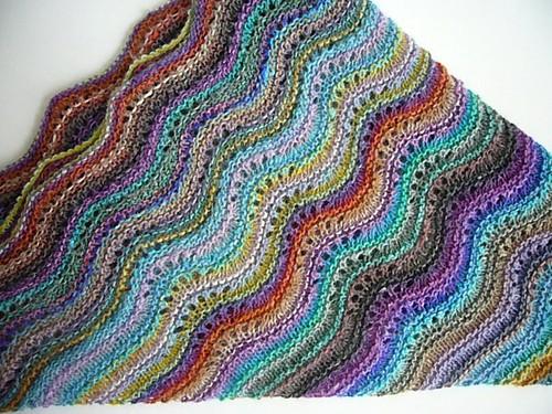 Noro shawl folded