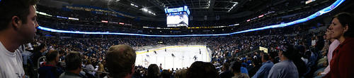 Ice hockey in the St. Petersburg Press Forum in Tampa, Florida, USA