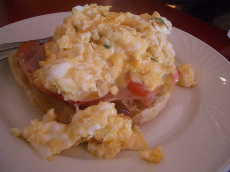 Scrambled eggs at Butterfly Cafe