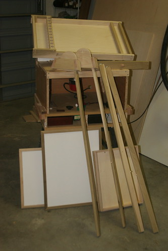 Easel before finish