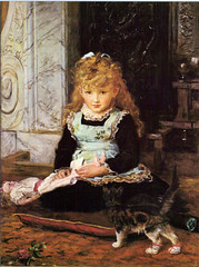 """Puss in Boots""  by Millais (Martin Beek) Tags: art childhood kitten victorian artists painter pussinboots tutorial millais sentimental royalacademy preraphaelitebrotherhood victorianart johneverettmillais victorianpainting dundeemuseumandartgallery theartofjohneverettmillais johneverrettmillais"