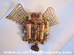 Paper Bead Angel Pin