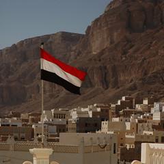 Seiyun - Yemen national flag (lloyd 少) Tags: yemen seiyun hadramart