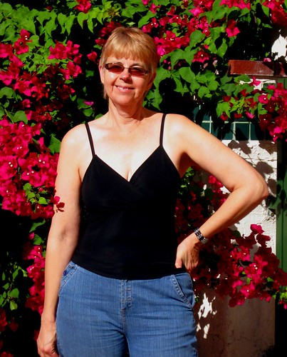 Mature Wife Beauty, Palm springs sun, smiles and bougainvillea heaven