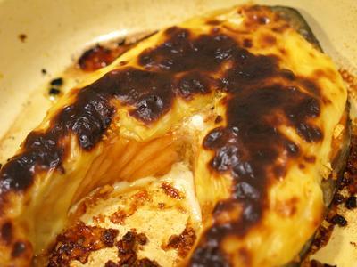 Baked Garlic Cheese Salmon
