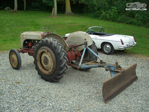 1949 Ford 8N and 1963 MGB