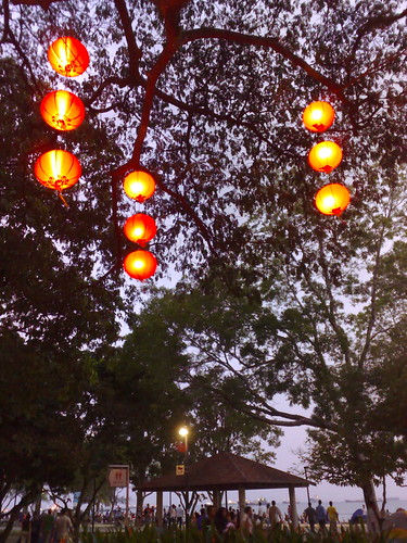 Chinese New Year decor at the park