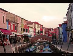Burano: Colours of the island - :    (Anastassiya Bergem) Tags: bridge venice houses italy italia colours burano veneto