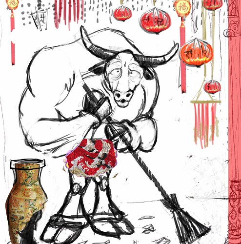 Stylised Animal Challenge - With a Twist - Feb 2008 - 'Bull in a China Shop'