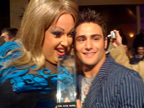 Blake Riley and Chichi LaRue at 2008 GayVN Award show