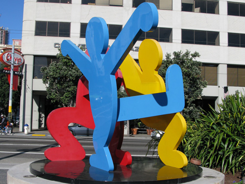 Keith Haring sculpture at Moscone Center