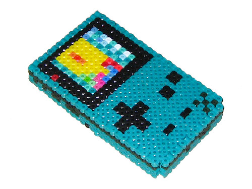 Color Bead Game Teal Gameboy Color 3d Bead