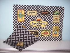 Department 56 Jam Bon cotton Placemats and Napkin Set of 6 $12 (From My Home To Yours) Tags: placemat cotton jambon department56 bonappetit