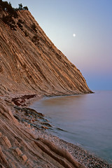 LF1 (A_V_P) Tags: large format 4x5 toyo nikkor135 field black sea moon sunset velvia depthoffield color film natural landscape