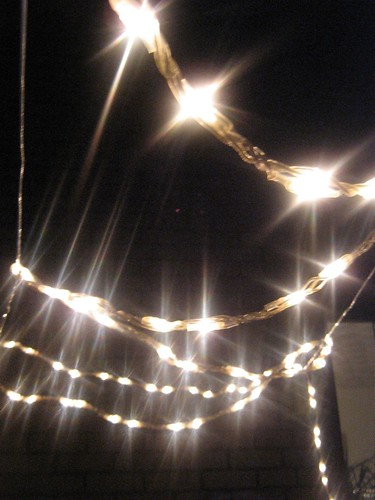 Fairy lights in the dark