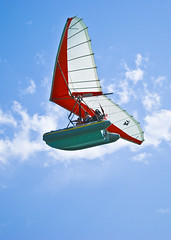 The Flying Boat (Fahad Al Nusf) Tags: blue red sky kite me digital boat fly flying nikon asia gulf weekend middleeast ku arab chalet kuwait flyingboat fahad kw arabiangulf q8 kwt  18200mm  nikon18200mm d80  nikond80 worldwideopen fenyn fahadalnusf alnusf