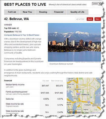 Bellevue Washington rated as one of the top cities in America to live!
