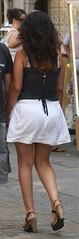 118 (SadCire) Tags: woman frau mujer femme girl shoulder calves legs miniskirt minidress skirt heels street candid sexy