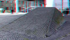 Wilhelminaplein Rotterdam 3D (wim hoppenbrouwers) Tags: wilhelminaplein rotterdam 3d anaglyph stereo redcyan ptt torenopzuid kopvanzuid piano torenvanzuid renzopiano