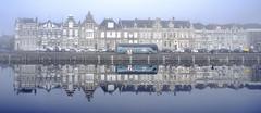 Hazy reflections (Wouter de Bruijn) Tags: fujifilm xt1 fujinonxf14mmf28r urban landscape fog mist reflection reflections water canal architecture middelburg walcheren zeeland nederland netherlands dutch holland outdoor