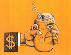 Capitalism (B A Y S A L) Tags: portrait man money illustration turkey artist hand drink politics satire trkiye cartoon coke humour dollar caricature persons capitalism imperialism cartoonist turguie baysal ercanbaysal illstratr