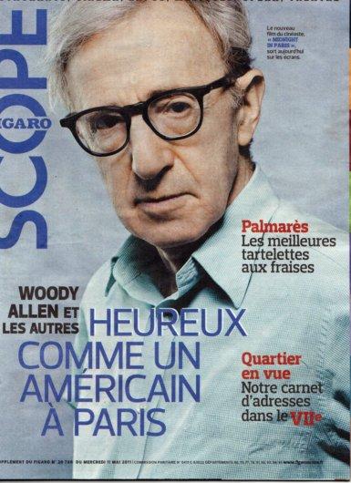 11e13 Fig Mag del 11 mayo 2011 Wody Allen Feliz ocmo un americano en París