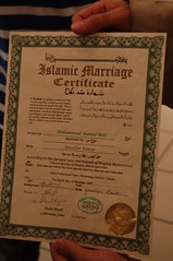 Marriage Certificate (SarBot) Tags: power jennifer butt hamid noor