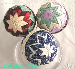 ball ornaments (kitkabbit) Tags: christmas ornaments quilted crafted