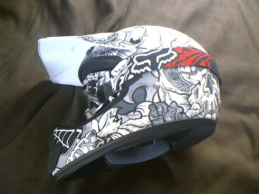 Fox Racing, Encore goggles, Tatted helmet