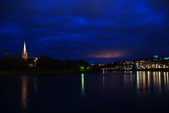 Nidarosdomen i bltimen (Tor-Inge Langberg) Tags: norway norge norwegen noruega bluehour trondheim norvegia nidelva norvege bltimen kristianstenfestning festningen bltime domkirken