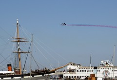 Planes and Boats (Cal Bear 94) Tags: sanfrancisco boats flying smoke planes tallship abigfave