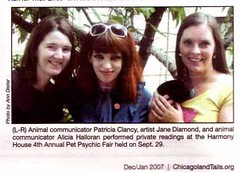 I'm in Chicagoland Tails Magazine! (Jane (on break)) Tags: artist 07 2007 catlovers halloweenevent catartist janediamond artmewvo harmonyhousecatshelter chicagolandtailsmagaziine chicagolandtails petpsychicreaders nokillcaglesscatshelter withjaneincatland photobyanndieter anndieter