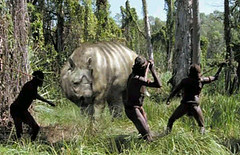 Diprotodon and hunters