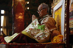 Tibetan lama His Holiness Jigdal Dagchen Sakya (of Seattle Washington, USA) on the Throne at Tharlam Monastery, Boudha, Kathmandu, Nepal (Wonderlane) Tags: nepal love religious person peace path expression buddhist traditional famous religion compassion buddhism teacher blessing monastery leader lama tibetan kathmandu teaching practice tradition spiritual enlightenment result throne rinpoche tantra initiation boudha buddhists holiness tantric empowerment sakya tibetanbuddhism personage 2255 bodha vajrayana bodhanath mahayana tibetanbuddhist spiritualpower tharlam lamdre tharlammonastery dagchen jigdaldagchensakya sakyasect dachenrinpoche jigdal hisholinessjigdaldagchensakya