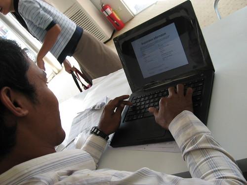 MacBook user in Phnom Penh